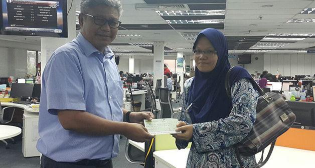 Cheque Presentation – 3 August 2016